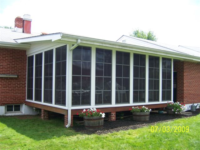 Sunroom windows & screens